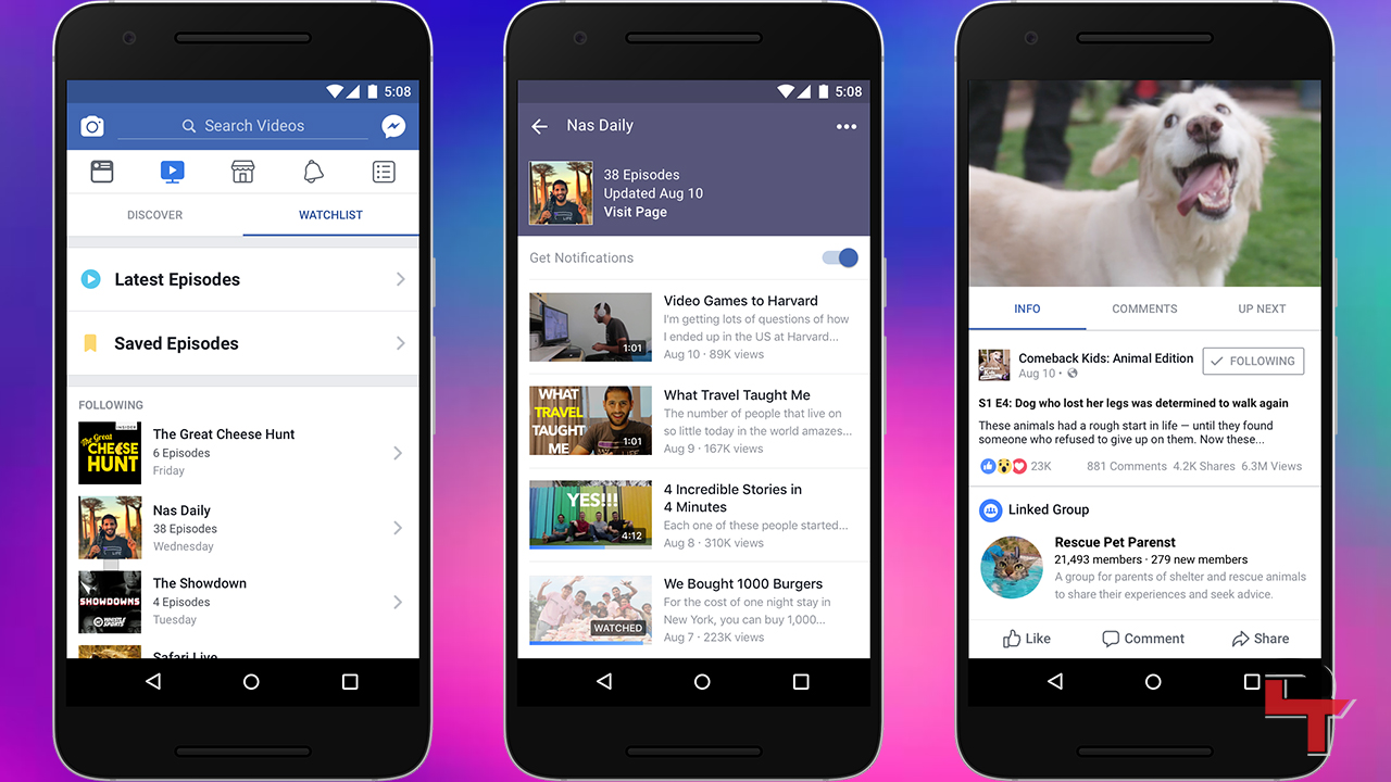 how to get facebook watch tab